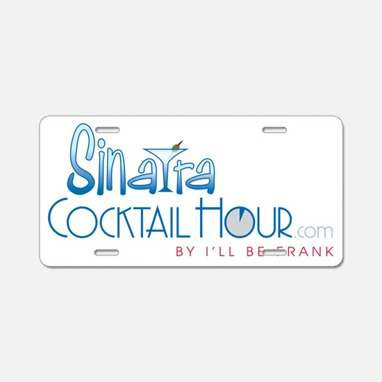 SinatraCocktailHour SHIRT Aluminum License Plate