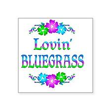 "bluegrassl Square Sticker 3"" x 3"""