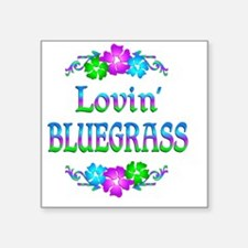 "bluegrassl Square Sticker 3"" x 3"""