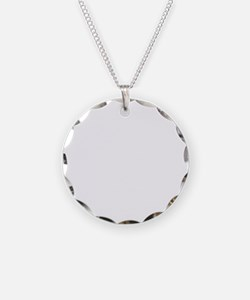 BELGIAN LAEKENOIS WHITE Necklace Circle Charm