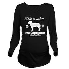 BELGIAN LAEKENOIS WH Long Sleeve Maternity T-Shirt