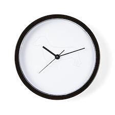 DASCHUNDWHITE Wall Clock