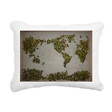 Peas on Earth Rectangular Canvas Pillow