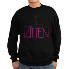 kitten copy Sweatshirt (dark)