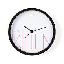 kittendrk copy Wall Clock