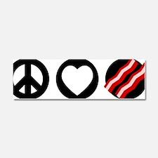 peace-love-bacon Car Magnet 10 x 3