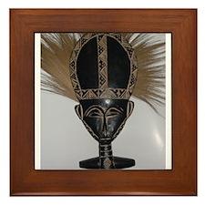 African Fertility Doll Framed Tile