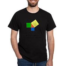 pythagoreanTheorem-1-blackLetters cop T-Shirt