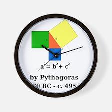 pythagoreanTheorem-1-blackLetters copy Wall Clock