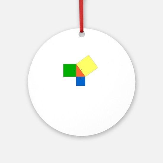pythagoreanTheorem-1-whiteLetters c Round Ornament