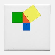 pythagoreanTheorem-1-whiteLetters cop Tile Coaster
