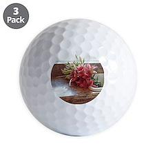 Stargazer lilies in kitchen sink Golf Ball
