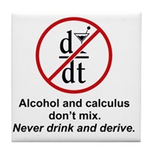drink and derive Tile Coaster