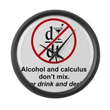 drink and derive Large Wall Clock