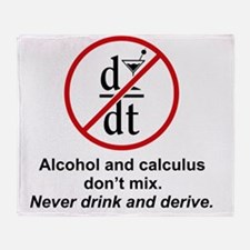 drink and derive Throw Blanket