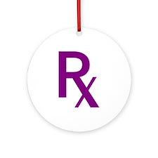 Purple Rx Symbol Ornament (Round)