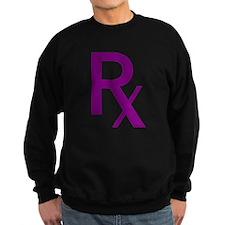 Purple Rx Symbol Sweatshirt