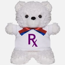 Purple Rx Symbol Teddy Bear