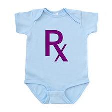 Purple Rx Symbol Infant Bodysuit