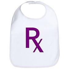 Purple Rx Symbol Bib