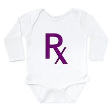 Purple Rx Symbol Long Sleeve Infant Bodysuit
