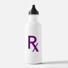 Purple Rx Symbol Water Bottle