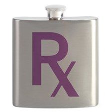Purple Rx Symbol Flask