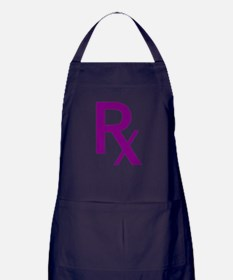 Purple Rx Symbol Apron (dark)