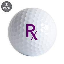 Purple Rx Symbol Golf Ball