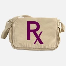 Purple Rx Symbol Messenger Bag