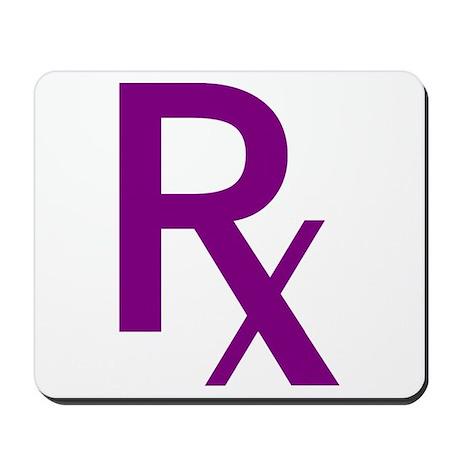 Purple Rx Symbol Mousepad