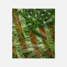 weed flag Throw Blanket