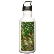 weed flag Sports Water Bottle