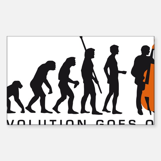Evolution bass 2c B Sticker (Rectangle)