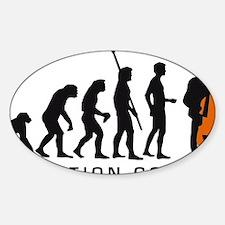 Evolution bass 2c B Sticker (Oval)