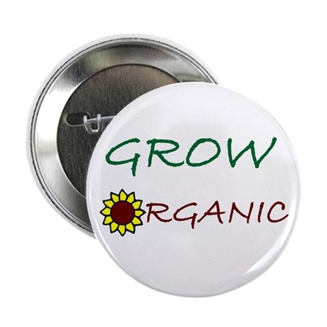 """grow organic 2.25"""" Button (100 pack)"""