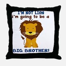 big brother lion2 Throw Pillow