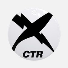 ctr_blackT Round Ornament