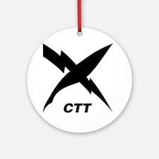ctt_blackT Round Ornament