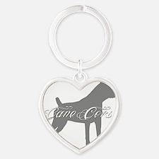 graysilhouette2 Heart Keychain