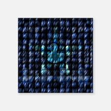 "grownupduckycurtain Square Sticker 3"" x 3"""