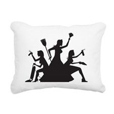 cleaning action team Rectangular Canvas Pillow