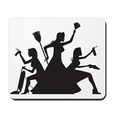 cleaning action team Mousepad