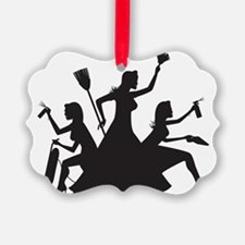 cleaning action team Ornament