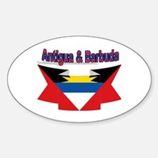 Antigua flag ribbon Oval Decal