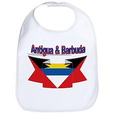 Antigua flag ribbon Bib