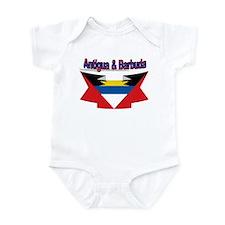 Antigua flag ribbon Infant Bodysuit