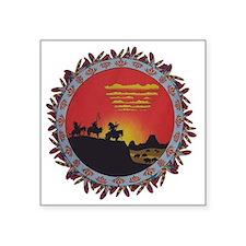 "Indians On The Prairie Desi Square Sticker 3"" x 3"""