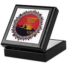 Indians On The Prairie Design Keepsake Box