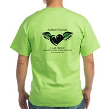 Green Autism Warrior. Recovery T-Shirt